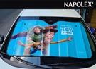 【現貨】日本NAPOLEX 迪士尼 玩具總動員 胡迪 巴斯 汽車前遮陽擋 段熱 隔熱 降溫 扎實結構 鋁箔