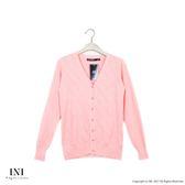 【INI】四季舒適、輕薄舒適織紋針織外套.粉色