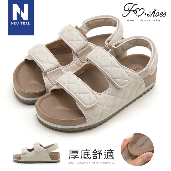 涼鞋.小香風菱格紋涼鞋-FM時尚美鞋-NeuTral.Sweet of you
