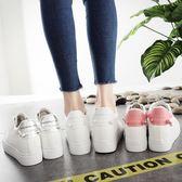 內增高女鞋 鏤空百搭小白鞋女厚底透氣