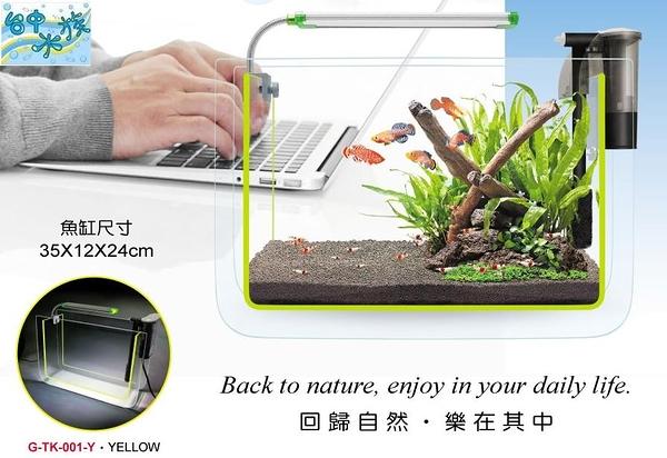 {台中水族} 台灣AQUA WORLD-超白螢光 套缸組 ( 35×12×24cm) --特價 含LED夾燈  /  120L薄型外掛