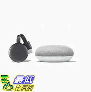 [8美國直購] Chromecast and Google Home Mini Bundle