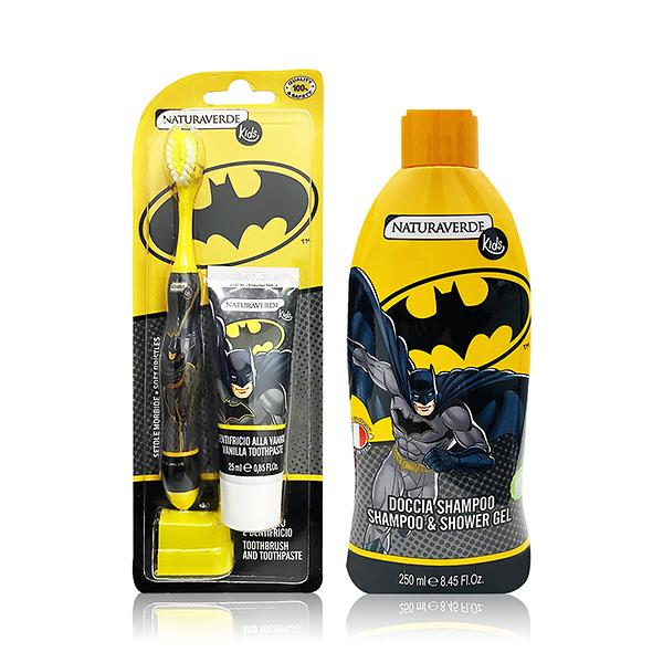義大利進口 Batman口腔保健+洗髮沐浴乳組
