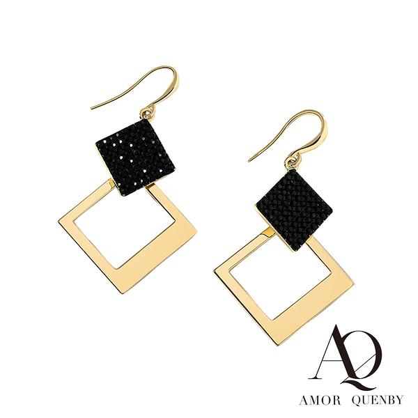 AQ 潮流時尚法式風情幾何耳環/耳針(AMOR Quenby)