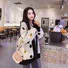 VK精品服飾 韓國風毛衣學院風針織衫單品外套