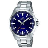 CASIO EDIFICE 日期顯示不鏽鋼錶帶腕錶(EFV-100D-2A)-藍x48mm