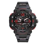 手錶 夜光防水運動電子錶時尚雙顯手錶【非凡商品】w24