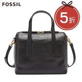 FOSSIL Sydney 黑色輕量真皮波士頓包 SHB1978001