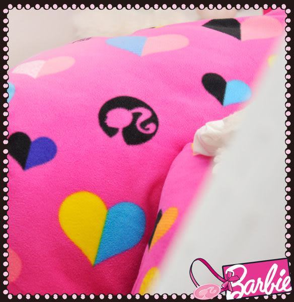 【Barbie】電音心派對-雪芙絨加大雙人床包三件組《Born to be a STAR《甜粉》》