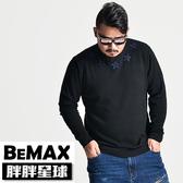 【胖胖星球】中大尺碼‧英倫電繡星星針織毛衣 2XL~7XL‧加大【70908】