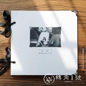 特大黑色內頁DIY插頁相冊家庭影集復古創意手工相薄紀念冊回憶錄