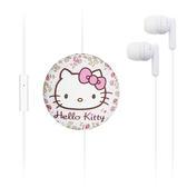 秋奇啊喀3C配件-GARMMA Hello Kitty 伸縮耳機麥克風-優雅白