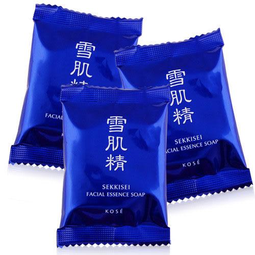 KOSE 高絲 雪肌精晶透潤白潔顏皂(10G)x3入【美麗購】
