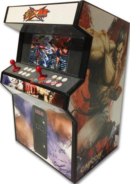 CAPCOM原廠 快打旋風X鐵拳 大型電玩機台擬真模型
