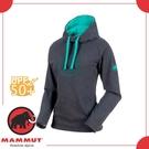 【MAMMUT 女 Logo 保暖連帽長袖上衣《幻影黑》】1040-01400-00166/休閒/運動/登山/滑雪/帽T/大學T