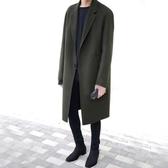 秋冬季妮子大衣男士中長款韓版寬鬆大碼風衣加厚毛呢外套男青年潮