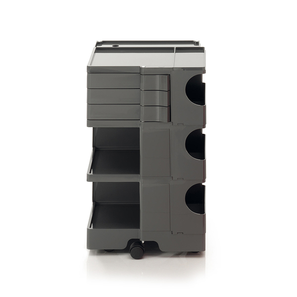 B-Line Boby Storage Trolly System Mod.M H73.5cm 巴比 多層式系統 收納推車 - 高尺寸 (三抽屜收納) 深灰色款