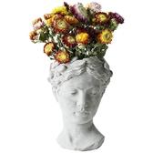 創意人像水泥花盆維納斯女神雕像插花花器 復古藝術花瓶家居擺件