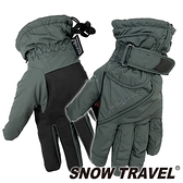 【SNOW TRAVEL 雪之旅】英國PORELLE防水透氣薄手套『灰』AR-52 防風手套.保暖手套
