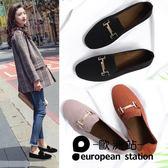 豆豆鞋/女懶人兩穿瓢鞋平底單鞋「歐洲站」
