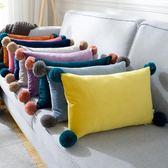 ins沙發抱枕靠墊臥室北歐靠墊沙發布藝長形床上抱枕靠枕含芯腰枕 初見居家