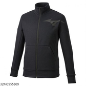 MIZUNO 男裝 外套 立領 休閒 針織 保暖 合身版型 口袋 黑【運動世界】32MC955809
