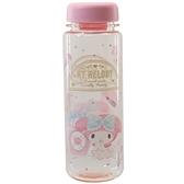 小禮堂 美樂蒂 透明水瓶 500ml (粉美妝款) 4548626-14161