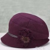 老人帽子女秋冬天毛呢盆帽夾棉加厚保暖媽媽中老年女帽奶奶漁夫帽 交換禮物