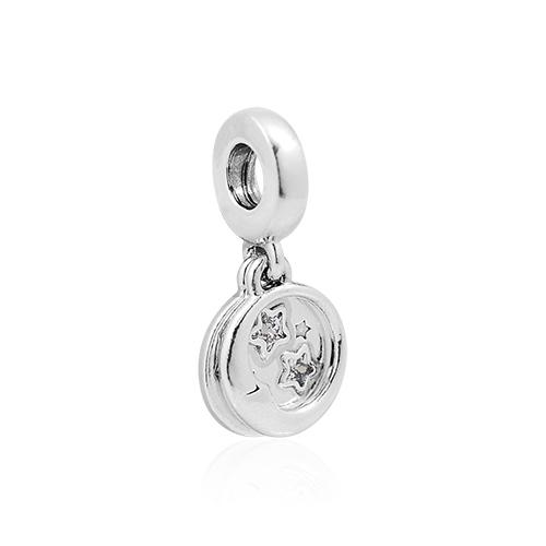 Pandora 潘朵拉 鏤空酣睡星月 垂墜純銀墜飾 799242C01