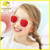 兒童太陽眼鏡 新款兒童太陽鏡時尚個性脂男童女童寶寶彩色墨鏡方框偏光太陽鏡