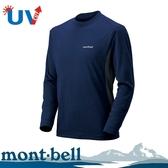 【Mont-Bell 日本 男款 WICKRON ZEO 長袖排汗T恤《靛藍》】1104938/圓領長袖/休閒衫/防曬