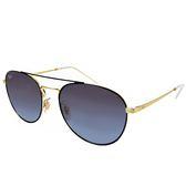 【RayBan 雷朋】RB3589-9054/8G 經典雙槓太陽眼鏡(#金框漸層灰鏡面)