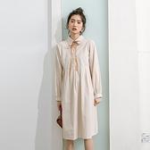 長袖洋裝-白色立領木耳邊蕾絲連身裙73xm50[時尚巴黎]