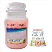 YANKEE CANDLE 香氛蠟燭-粉紅沙灘(買623g送104g)