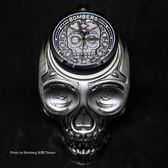 BOMBERG 炸彈錶 BOLT-68 Skull Pearl珍珠骷顱手錶-黑/45mm BS45H3PBA.SKP-1.3
