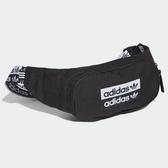 L-adidas WAIST BAG 側背包 腰包 休閒 潮流 黑 EJ0974