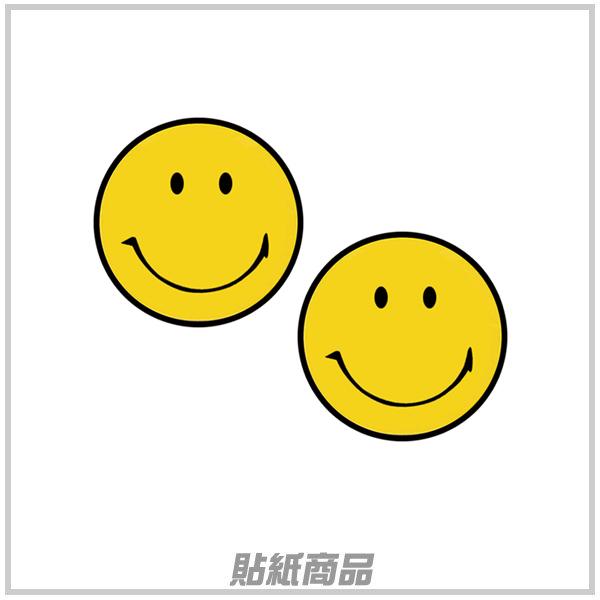 【愛車族購物網】微笑臉貼紙 (2入) 3.5×3.5cm