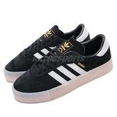 adidas 休閒鞋 Sambarose W 黑 白 女鞋 膠底 金標 鬆糕鞋 厚底 增高鞋 【ACS】 EE4678