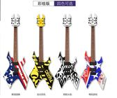 Derulo BATS蝙蝠異形電吉他 全封閉拾音器單搖初學者BC電吉他吉它(彩繪版) -炫彩腳丫折扣店