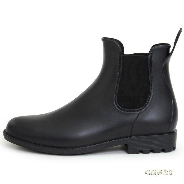 DR男士釣魚靴雨靴水鞋套鞋暖廚房膠鞋防水鞋防滑雨鞋男「時尚彩虹屋」