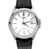 CASIO手錶 簡約堅毅日期窗皮革手錶NECK12
