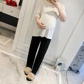 莫代爾孕婦打底褲2-5-3-9個月寬鬆闊腿睡褲薄款家居褲子  極有家