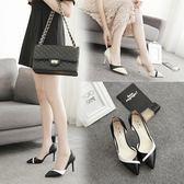 高跟鞋 鞋子新款百搭韓版時尚尖頭高跟鞋女細跟小碼33女淺口單鞋 巴黎春天