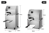 甘蔗機商用甘蔗榨汁機器不銹鋼全自動電動商用甘蔗機立式台式 MKS新年慶