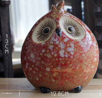 [協貿國際]陶瓷貓頭鷹存錢罐單個價