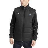 Puma 背心 BMW 男 黑 運動背心 羽絨背心 聯名款 保暖 運動 休閒 賽車服飾 背心 59518501