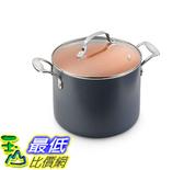 [8美國直購] 陶瓷鍋鈦合金不沾鍋 Gotham Steel 1366 Ceramic and Titanium Nonstick 7-Quart Pot with Lid