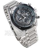 T5 sports time 三眼計時碼表 賽車錶 個性 潮男 學生錶 防水手錶 日期視窗 男錶 H3642銀黑