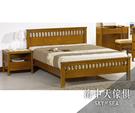 {{ 海中天休閒傢俱廣場 }} G-25 摩登時尚 臥室系列 520-8 李維5尺柚木雙人床(不含床墊)