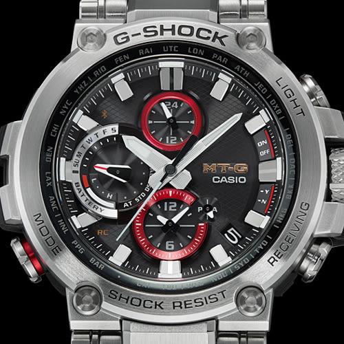 新品 日本正規品 CASIO 卡西歐 G-SHOCK MT-G 已安裝藍牙 太陽能電波手錶 男士手錶 MTG-B1000D-1AJF